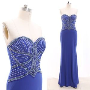 Dresses & Skirts - Strapless Sheath Long Prom Formal Gown Evening